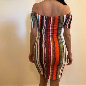 Dresses & Skirts - Tribal Off The Shoulder Mini Dress